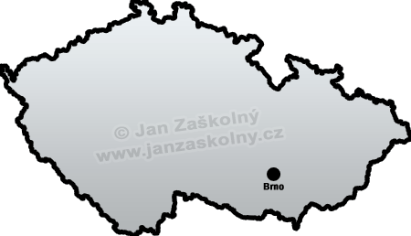 Map of Czech Republic and Brno