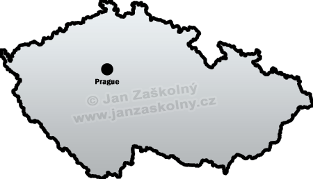 Map of Czech Republic and Prague
